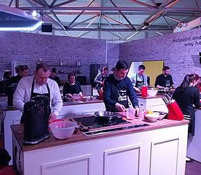 HDL Sales force visits the Jamie Oliver Cooking School